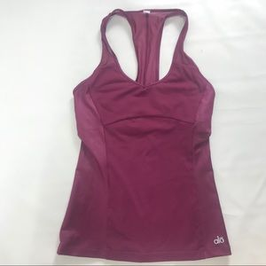 All Yoga maroon racerback Workout tank. Size Small